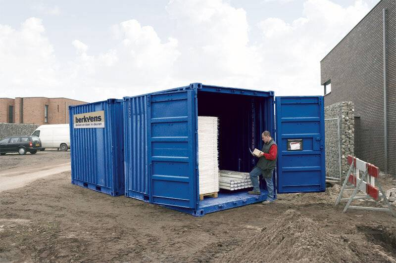 Container volgens Logicon ingericht