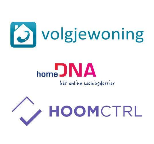 Volgjewoning en HomeDNA logo